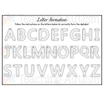 Free Download, Alphabet Mat, Letter Formation