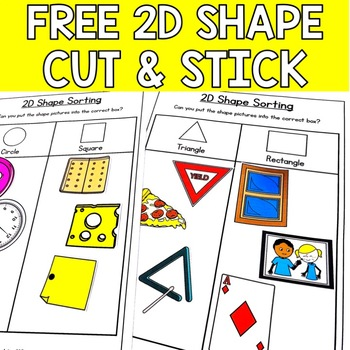Free Download, Cut and Stick Shape Sorting