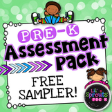 Free Download - Pre-K Assessment Pack - Free Sampler - PreK