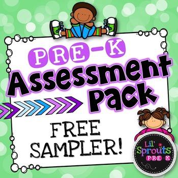 Free Download - Pre-K Assessment Pack - Free Sampler - PreK