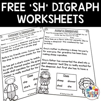 Free Download Sh Digraph Highlighting Reading Passage