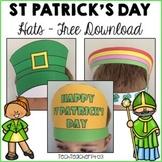 FREE DOWNLOAD Saint Patrick's Day Printable Hats