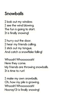 Free Downloadable Poem: Snowballs