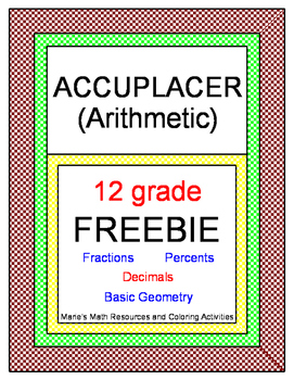 FREE DOWNLOADS - Arithmetic ACCUPLACER Practice