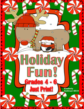 Free Christmas Activities Math Grades 4-6 Printables! Early Finishers