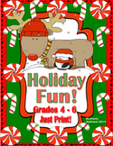 Free Christmas Activities Math Grades 4-6 Printables! Earl