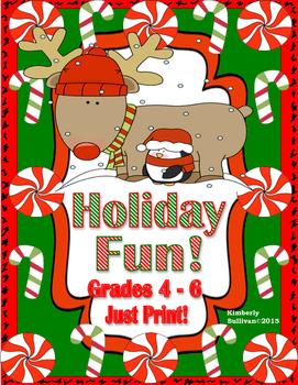 Free Christmas Activities Math Grades 4-6 Printables! Earl