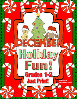 Free Downloads Christmas Math + Literacy Grades 1-2 Just Print!