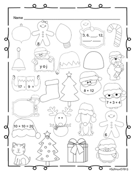 Free Downloads Christmas Math + Literacy Grades 1-2 Just Print!