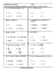 FREE DOWNLOADS - Elementary Algebra ACCUPLACER Practice