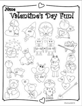 Free Downloads Valentine's Day Math and Literacy! Grades 2-3 Just print!