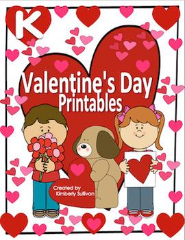Free Downloads Valentine's Day printables Kindergarten