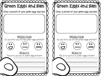Free Dr. Seuss Recording Sheets {Green Eggs and Ham} {Oobl