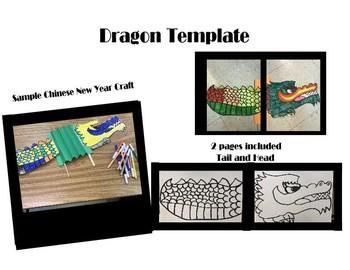 Free Dragon Craft Template