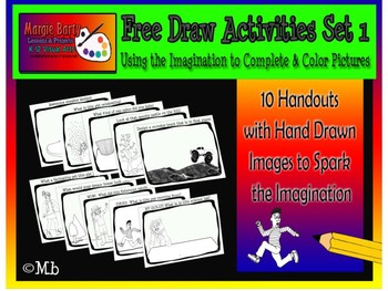 Drawing Activity Worksheets for Visual Art