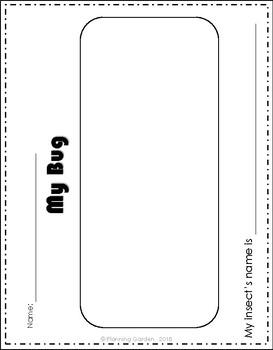 Free Draw a Bug Worksheet