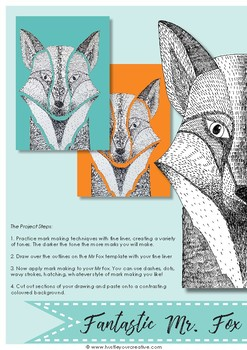 Free Drawing & Painting Projects- Fantastic Mr Fox & Fantastic Felines