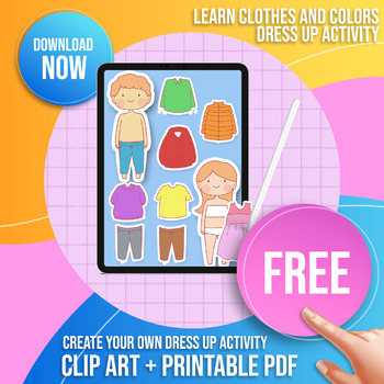 Free Clothing Clip Art + Free Cute Kids Character