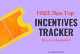 Free EDITABLE Box Top Reward Tracker
