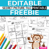 Free EDITABLE Secret Picture Tile Printable Template