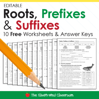 Free Ela Worksheets Greek And Latin Roots By The Illustrated Classroom
