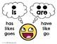 Free ESL/Spanish Poster: Common singular/plural verb forms