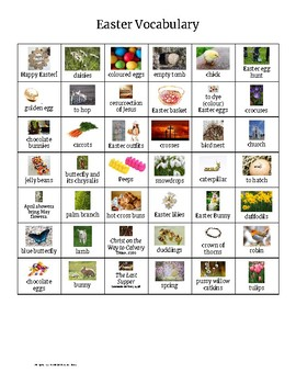 Free ESL/TEFL Easter Vocabulary Set