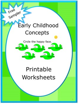 Free: Early Childhood Back to School Kindergarten Special Education Printable