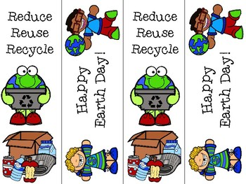 Free Earth Day Bookmarks