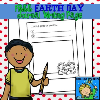 earth day journal writing page teach easy resources tpt  earth day journal writing page teach easy resources