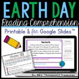Free Earth Day Reading Comprehension - Daily Text Evidence Practice