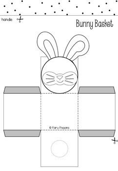 Easter Worksheets and Basket Template