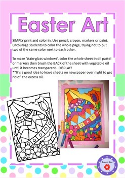 Free Easter Art - 2 Print & Color-in Sheets