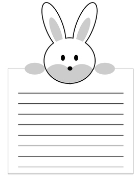 picture about Easter Bunny Templates Printable Free referred to as Easter Bunny Composing Paper Worksheets Coaching Products TpT