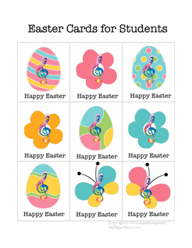 Free Easter Card and Music Alphabet