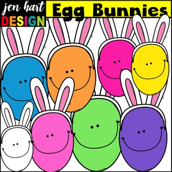 Free Easter Clip Art {Egg Bunnies}