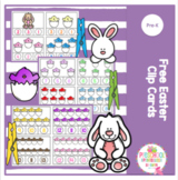 Free Easter Clip Cards
