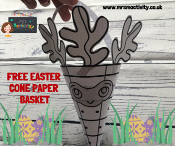 Free Easter Cone Paper Basket