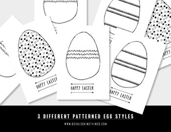 Free Easter Egg Colouring In Posters - Easter Art and Craft Activity and Decor