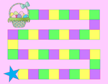 image regarding Printable Game Board titled Totally free Easter Match Board Printable as a result of KinderGeek TpT