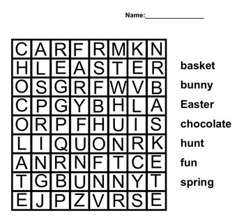 Free Easter Printables for Kinder