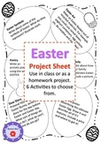 Free Easter Project Sheet