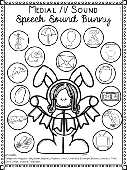 Free Easter Themed Speech Sound Worksheets- l and l blends- No Prep