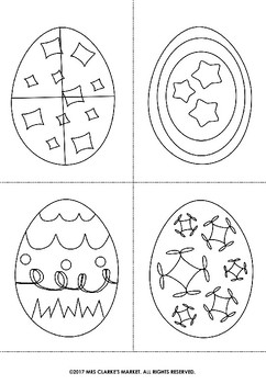 Free Easter Time Colouring Eggs!