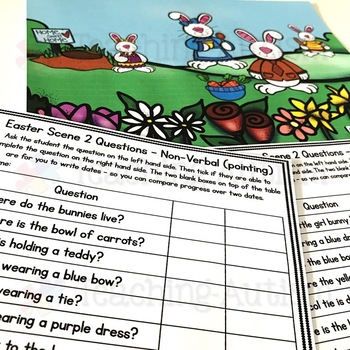 Free Wh Questions for Speech Therapy, Easter