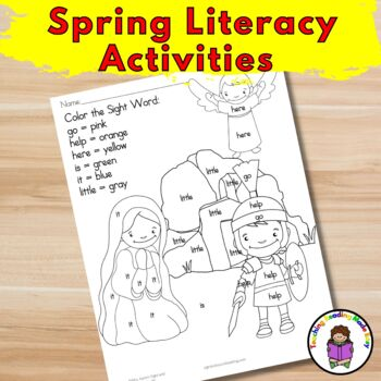 Spring/Easter Literacy Activities for Kindergarten/Preschool