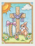 Easter rabbit coloring page. (Free)