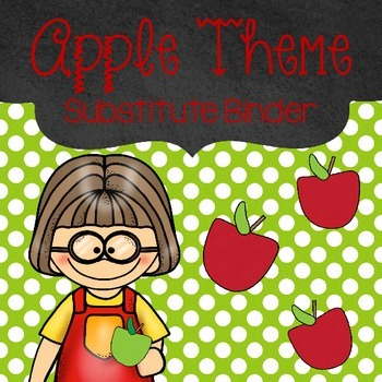Editable Apple Themed Substitute Binder
