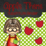 Editable Substitute Binder Apple Theme