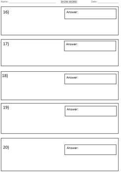 Free Editable Assessment